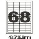 Этикетки 48.5х16.9 А4 100 листов