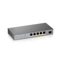 L2 комутатор PoE+ для IP відеокамер,PoE 60 Вт GS1350-6HP-EU0101F