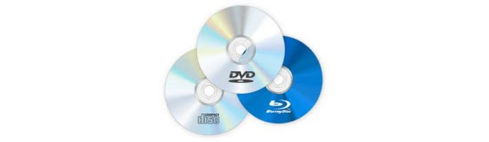 Диски DVD, CD, Blu-ray