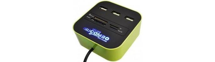 Картридеры, USB концентраторы